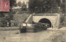 Inland waterways France 70 x-barges, locks and bridges and channels from various locations-period:1900/1940