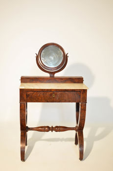 Charles X mahogany vanity table - France - 1840
