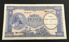 Congo Democratic Republic - 1000 Francs 15.02.1962 - Pick 2a