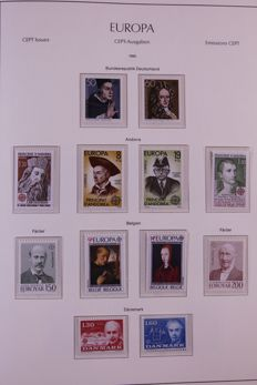 Europa Stamps 1980/1988 - Collection in Leuchtturm preprint album