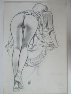 "Manara, Milo - original plate - ""Pin up sexy"""