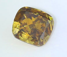 0.55 ct. Cushion Modified Brilliant Natural Diamond -  Fancy Brown yellow - SI 1