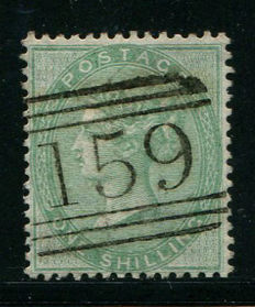 Great Britain 1855/57 - Queen Victoria - 1 shilling green Stanley Gibbons 72