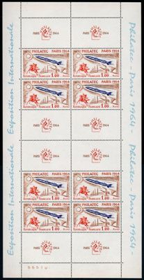 France 1964 - Philatec - Yvert Block 6 (3x)