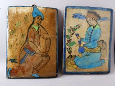 2 ceramic pictures - Iran - middle of the 20th century