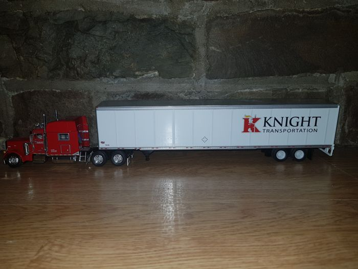 Tonkin - Scale 1/53 - Peterbuilt with knight box trailer ´Knight´ - Red / White