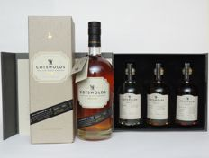 4 bottles - Cotswolds - First Single Malt Whisky 70cl & Test Batch Series 3x20cl