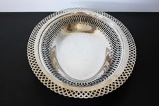 Albert Crossard  - Large, silver plated metal, Art Nouveau platter - France - circa 1920