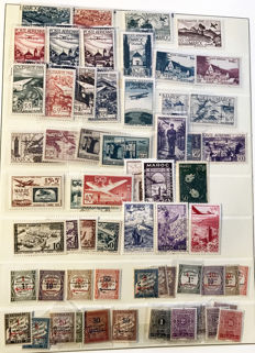 Morocco 1917/1956 - Extensive almost-complete collection - Yvert between no 74 and 361,  with Airmail and Postage Due