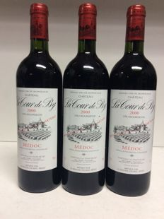 2000 Chateau La Tour de By, Cru Bourgeois, Medoc, France - 3 bottles 0,75l