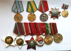 Bulgaria - a group of medal ,orders 11 Bulgarian general  - 11 high orders