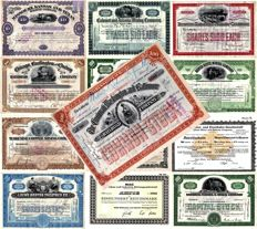 Lot with 13 x antique and rare stocks