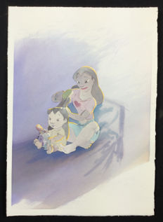 "Disney Studio - original illustration ""Lilo e Nani"""