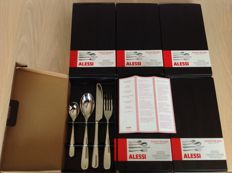 """Ettore Sottsass for Alessi - """"Nuovo Milano"""" set 24-piece cutlery set"""