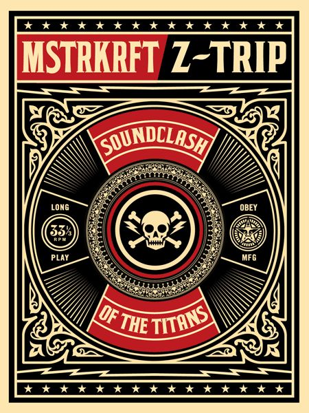 Shepard Fairey (OBEY) - Ztrip SoundClash Of Titans