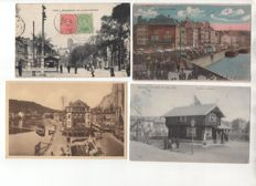 Belgium: lot of 252 postcards of the French-speaking part of the country from 1900 to 1950