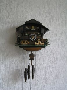 Cuckoo clock with mechanism and music box second half 20th century.