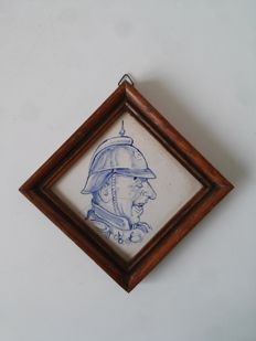Decoration tile with caricature, Germany