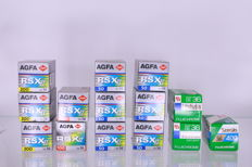 14 analogue film rolls, unopened, expired - Fujichrome and Agfa - (2746)
