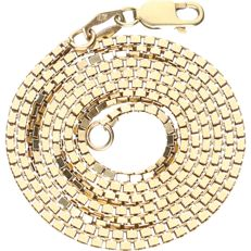 14 kt - Yellow gold Venetian link necklace - length: 51 cm
