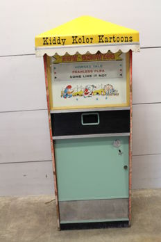 Kiddy Kolor Kartoons cinema cabinet from American amusement park
