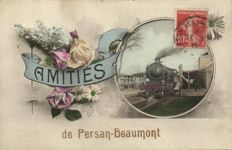 95X-France trains/trams and railways stations of various locations-period:1900/1940