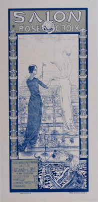 Carlos Schwabe - Salon de la Rose + Croix - Original lithograph poster from the 'Les Maitres de L'affiche' series