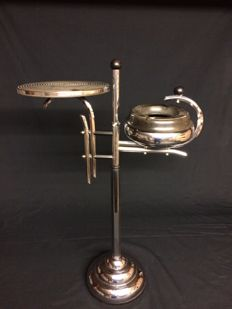 Art Deco bakelite and chrome smokers' stand