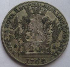 Germany, City of Nurnberg - 20  Kreuzer 1765 SR