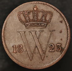 The Netherlands - 1 cent 1823 Brussels Willem I - copper
