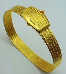 22 Ct  Fine Gold Bullion Mesh Bracelet, Total 22.00 g, length 18 Cm