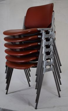 Giancarlo Piretti for Castelli – 6 'DSC 106' chairs
