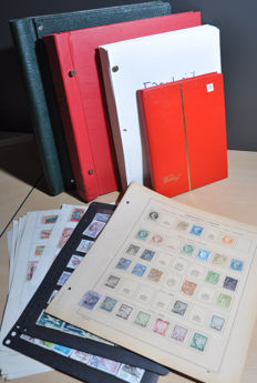 France and territories - batch from classic to modern in albums, a stock book and on sheets
