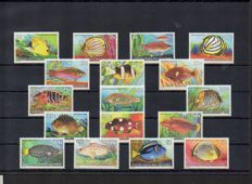 Thematic - Marine life collection with series and blocks.