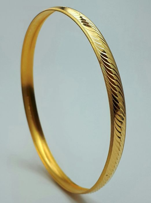 4 g 22 Ct Fine Gold Ladie's Bullion Bangle, *** INVEST IN BULLION JEWELLERY****