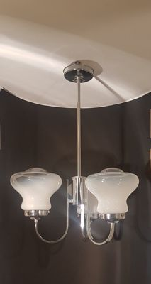 Unknown designer - 3-light pendant light with glass