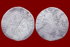 Spain - Catholic Monarchs, 1/2 Real in silver, Granada - 20 mm / 1.60 g