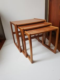 G-Plan - Teak nested table set, from the 'Fresco' series