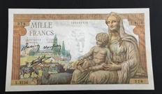 France - 1000 Francs 11.02.1943 - Fayette 40.18 - Pick 102