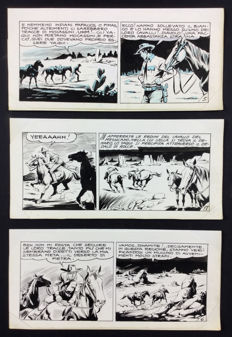 Gamba, Francesco - 3x original strips Tex series Gila no. 3 (1957)