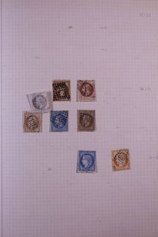 France 1862/1956 - Collection on blank pages