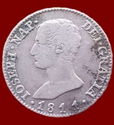 Spain - Jose Napoleon, 4 Reales in silver, Madrid 1811 - 26 mm / 5.74 g