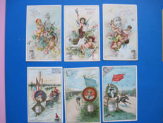 Antique Liebig cards French text. ( 95 x ).