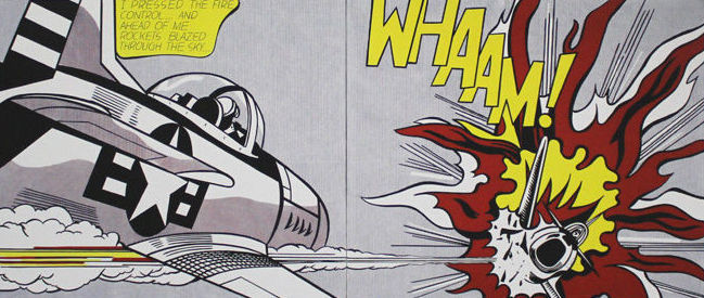Roy Lichtenstein (after) - WHAAM!//Waterlillies