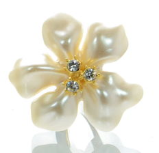 Kenneth J Lane KJL large enamel flower ring