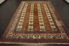 Exclusive handwoven Persian carpet -Qom - field Qom- -wool with silk-  -220 x 310cm- -made in Iran-