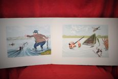 Collection of 2 hunting scenes by Arthur Boris O'KLEIN