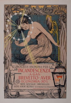 Giovanni Mataloni - Incandescenza a Gas - Original lithograph poster from the 'Les Maitres de L'affiche' series
