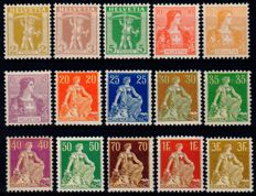 Switzerland 1908/1909 - batch of stamps - Yvert 113/127