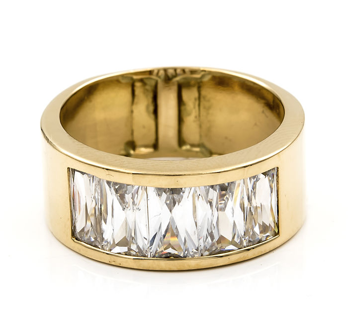 Yellow gold, 18 kt/750 - Cocktail ring - Ring size 19 (Spain)